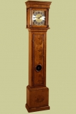 Walnut veneered bullseye longcase clock