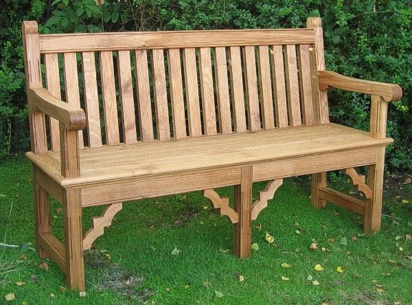 Oak Garden Seat