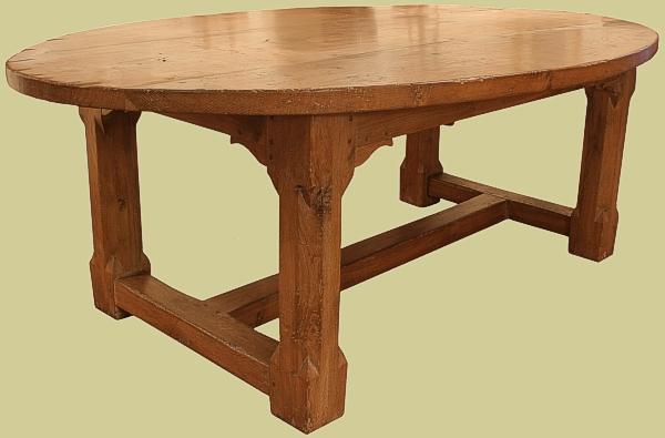 Oval Oak Dining Table Bespoke Oak Dining Tables Seat To - Oval oak dining table and 6 chairs