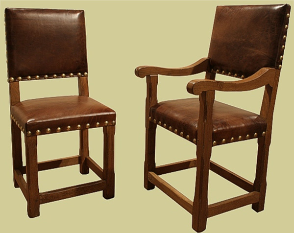 Stop chamfered leather up. side chair