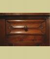 Oak Bedside Cabinet Carved Parchemin