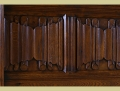 Panelled Bed in Oak   Early Bed   Hand Carved Solid Oak