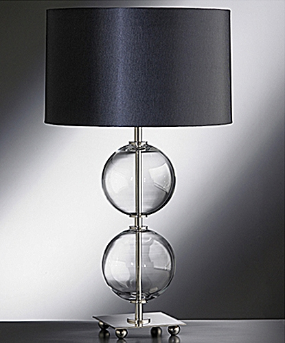home clear 2 ball large glass lamp base. Black Bedroom Furniture Sets. Home Design Ideas