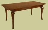 Cherry wood table cabriole leg