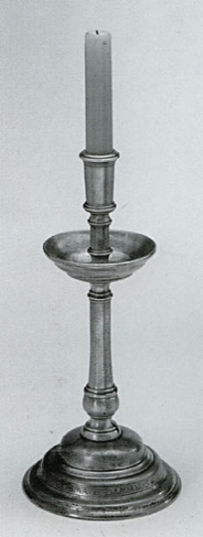 Traditional pewter candlestick