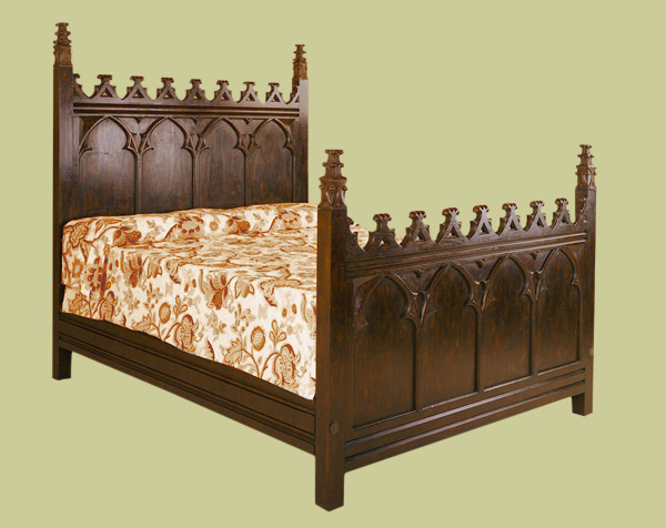 Gothic Style Bed 16th Century Style Handmade Solid Oak