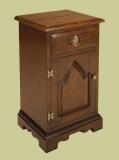 Oak bedside cabinet enclosed gothic