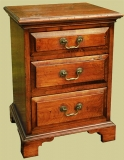 3 Drawer Bedside Chest Drawers Fruitwood