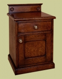 Oak bedside cabinet patera design