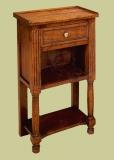 Oak bedside cabinet open storage