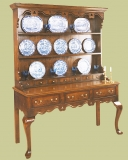High oak cabriole leg dresser with lovely period features
