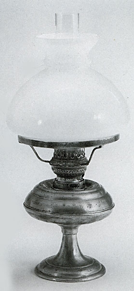 Pewter Oil Lamp With Shade | Italian