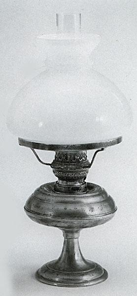 Electric Hurricane Lamp Stippled Glass