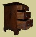 Oak bedside drawers period style detail