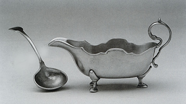 Traditional Pewter Gravy Spoon