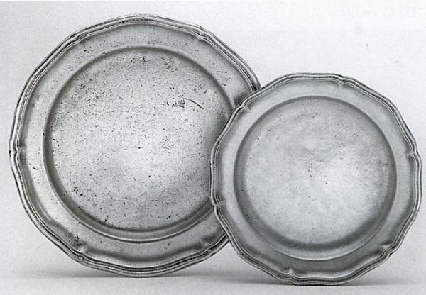 Antique Pewter Plates : Pewter plate italian handmade tableware