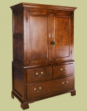 Linen Press Oak 3-Drawer