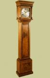 Walnut veneered longcase clock