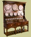 Handmade high potboard oak kitchen style dresser