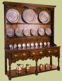 High potboard dresser with 3 drawers & shaped friezes