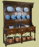 Oak Potboard high dresser shaped & pierced apron
