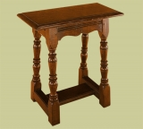 Oak joined stool of classic 17th century style