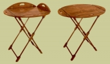 Handmade mahogany butlers tray and stand