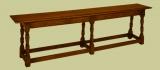 C17th style 6-leg oak bench