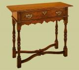 Oak Side Table Cross Stretcher