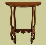 Oak side table with spanish influence