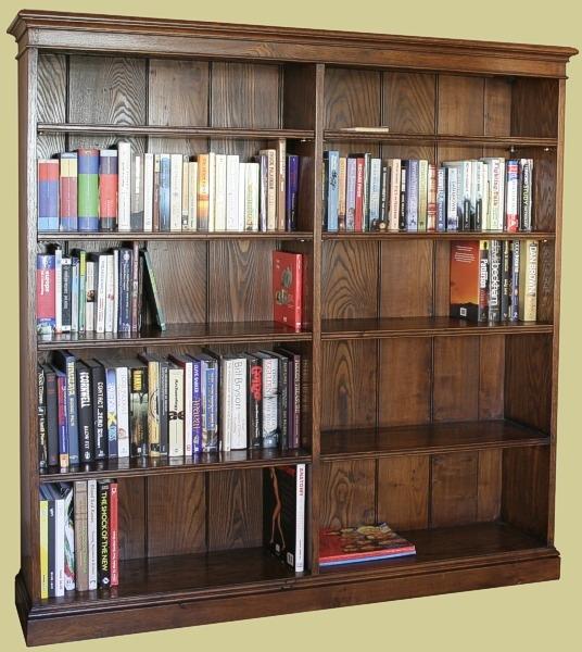 Double Width Oak Bookcase