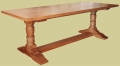 Oak Pedestal Dining Table Baluster Leg