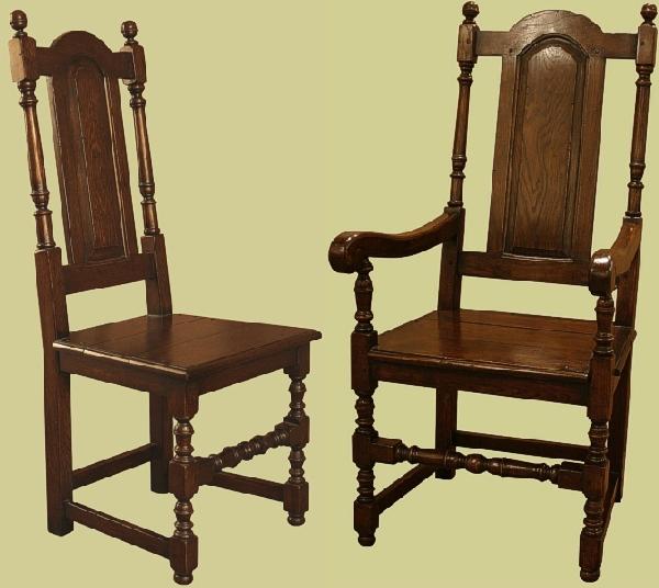 Oak Side Chair Solid Seat