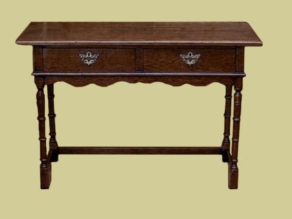 Oak Dressing Table 2 Drawers