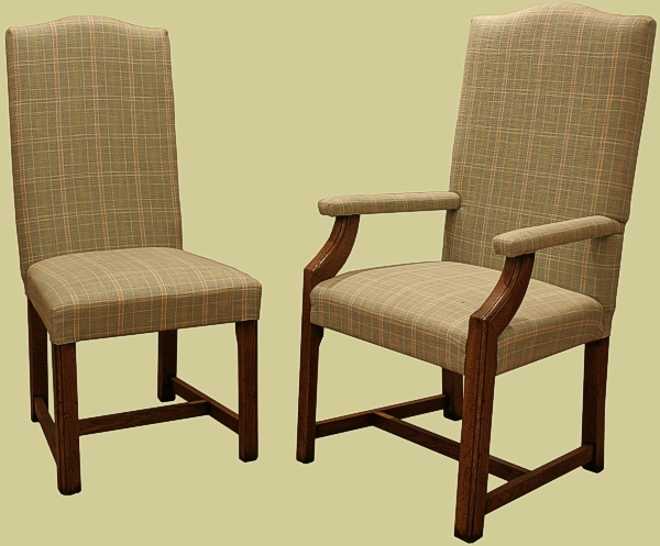 Upholstered Oak Side Chair