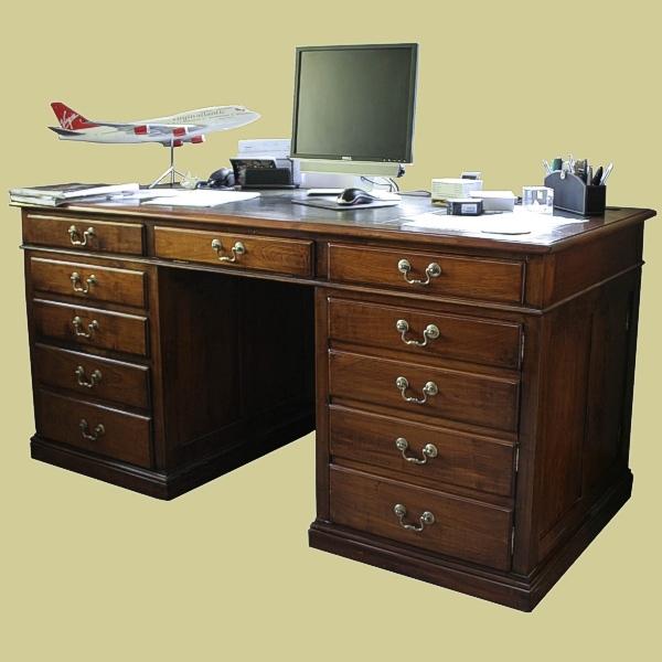 Pedestal Desk Fruitwood