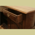 Small 2 drawer oak dresser base detail.