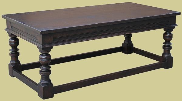 Dark Oak Coffee Table Handmade In England Bespoke Occasional Furniture
