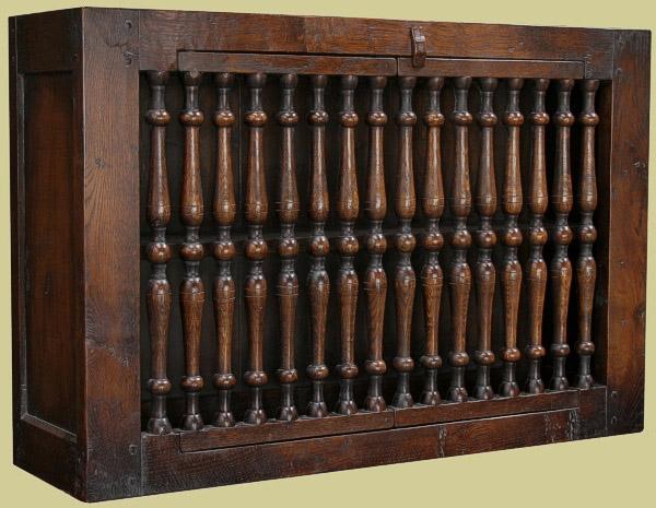 Oak wall cupboard antique style