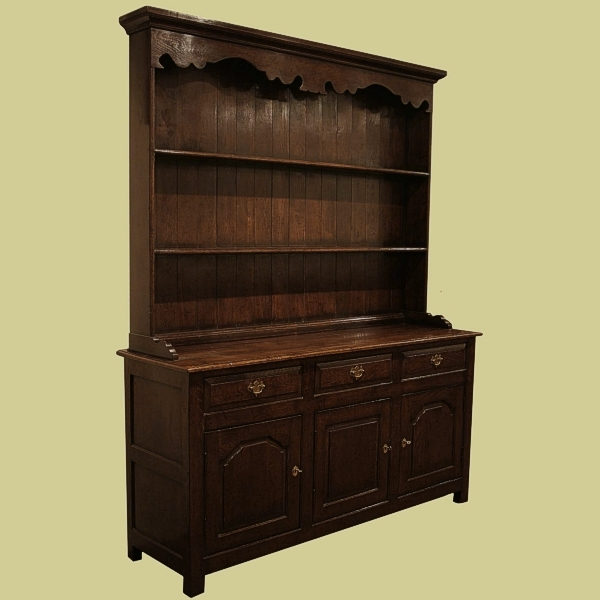 Oak Dresser With Plate Rack
