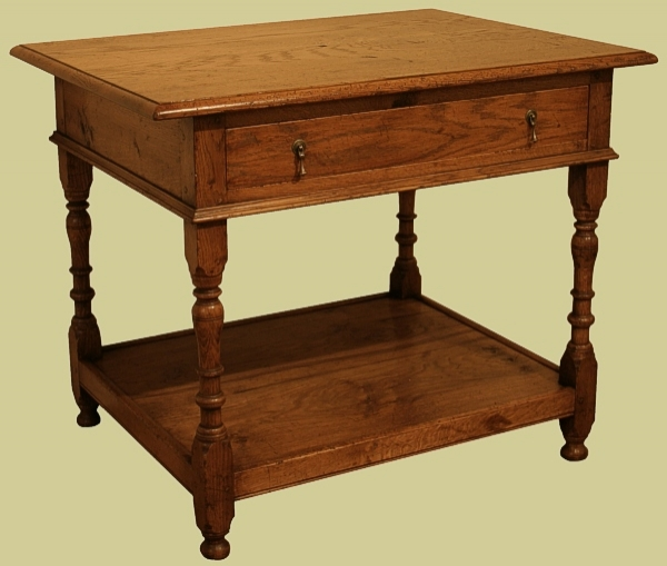 Oak Side Table with Concealed Wiring