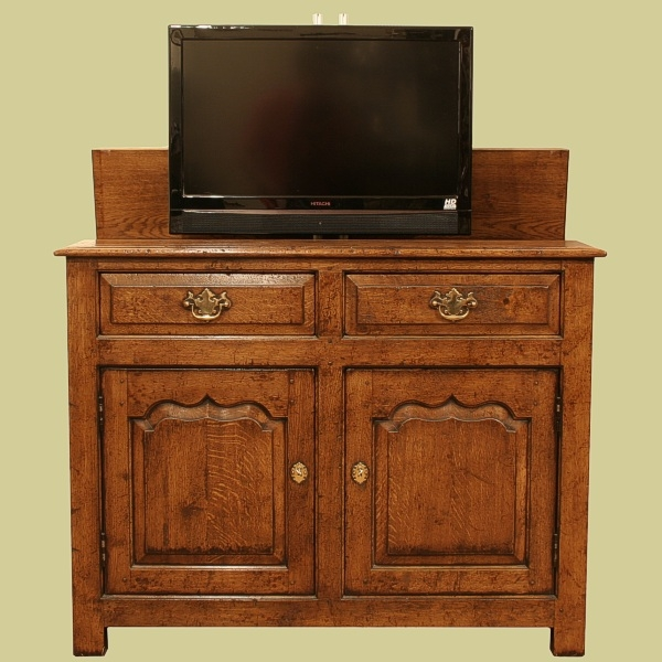Solid Oak 32in. TV Cabinet