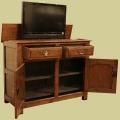 Solid Oak Tv Cabinet With Fully Functional Storage Cupboard Bespoke Oak Furniture