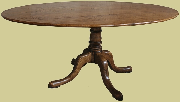 Oval dining table oak