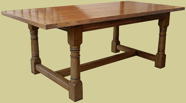 Light gunbarrel refectory table