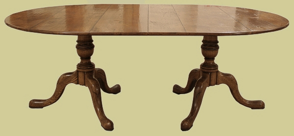 Twin Pedestal Extending Dining Table