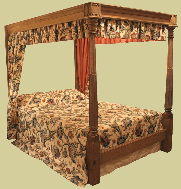 Unique gothic style four poster bed bespoke bedroom for Gothic style bed