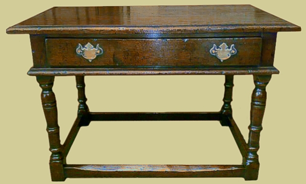 Superb value small oak coffee table with drawer.