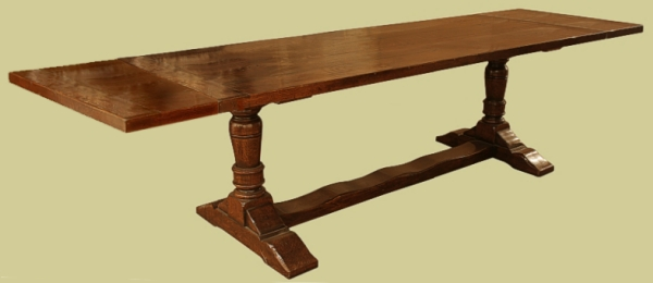 Extendable Oak Pedestal Table