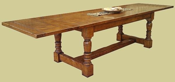 Superb value extending oak refectory table